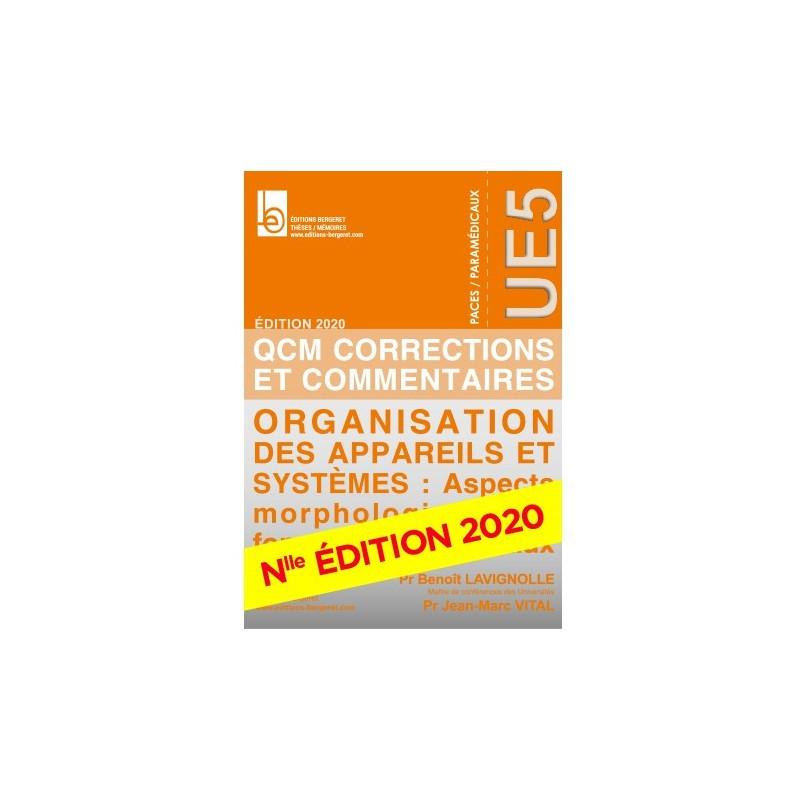 QCM UE5 - ED 2019 - ORGANISATION DES APPAREILS ET SYSTEMES - B31