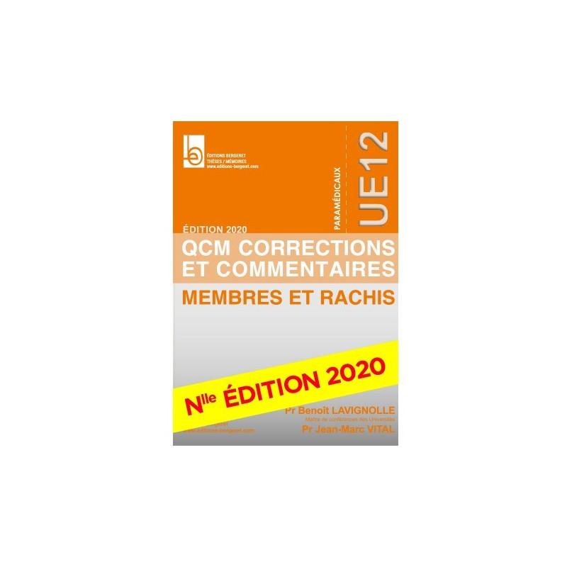 QCM UE12 - ED 2019 - MEMBRES ET RACHIS - B33